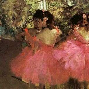Degas, Edgar: Dancers in Pink Oil Painting Reproductions