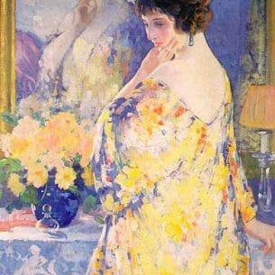 Desch, Frank H: La Robe de Boudoir (Reflections) Oil Painting Reproductions