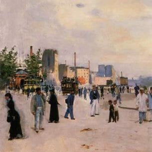 Beraud, Jean(France): A Morning Stroll Oil Painting Reproductions