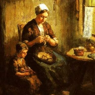 Berg, Andries van den(Holland): Preparing the Evening Meal Oil Painting Reproductions