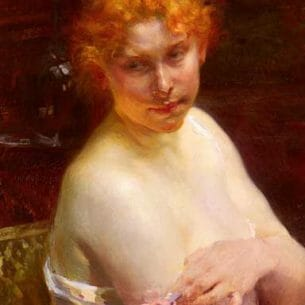 Besnard, Paul Albert(France): Portrait of a Young Woman Oil Painting Reproductions
