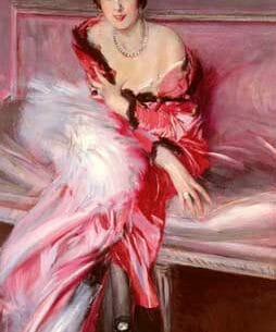 Boldini, Giovanni(Italy): Portrait Of Madame Juillard In Red Oil Painting Reproductions