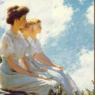 Curran, Charles Courtney: On the Heights Oil Painting Reproductions