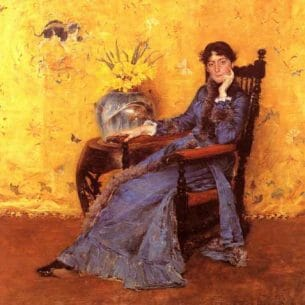 Chase, William Merritt(USA): Portrait of Miss Dora Wheeler