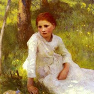 Clausen, Sir George(UK): Noon In The Hayfield Oil Painting Reproductions