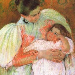 Cassatt, Mary(USA): Nurse and Child Oil Painting Reproductions