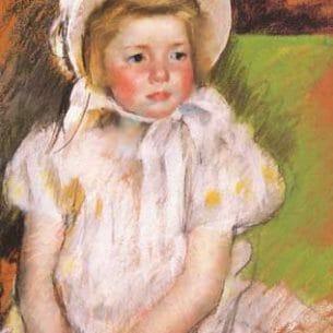 Cassatt, Mary(USA): Simone in a White Bonnet Oil Painting Reproductions