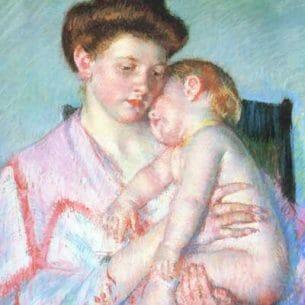 Cassatt, Mary(USA): Sleepy Baby Oil Painting Reproductions