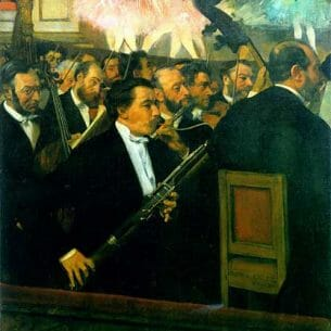Degas, Edgar: The Orchestra at the Opera House Oil Painting Reproductions