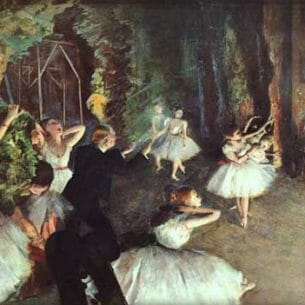 Degas, Edgar: Rehearsal on Stage, original size: 53,3 x 72,4cm Oil Painting Reproductions