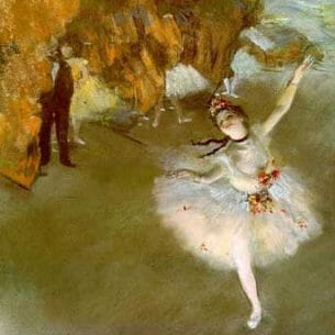 Degas, Edgar: The Star OR Dancer on Stage Oil Painting Reproductions