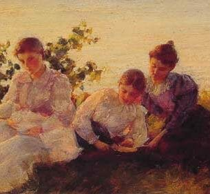 Curran, Charles Courtney – Three Women Oil Painting Reproductions