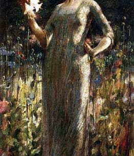 Alexander, John White(USA) – Girl with Lilies