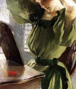 Alexander, John White(USA): Young Woman Arranging Her Hair Oil Painting Reproductions