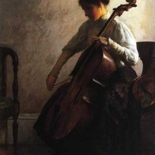 Camp, Joseph Rodefer de(USA): The Cellist Oil Painting Reproductions