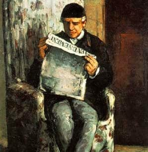 Cezanne, Paul: Portrait of the Artist's Father Oil Painting Reproductions