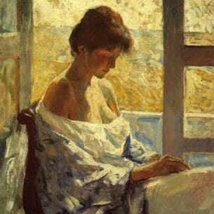Charles W. Hawthorne – By the Window Oil Painting Reproductions