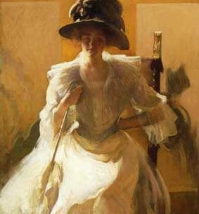 Edmund Tarbell – The Golden Screen Oil Painting Reproductions