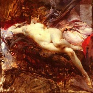 Boldini, Giovanni(Italy) – Reclining Nude Oil Painting Reproductions