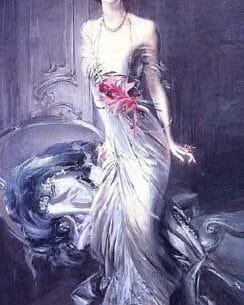 Boldini, Giovanni(Italy) – Portrait of Madame E  L  Doyen Oil Painting Reproductions