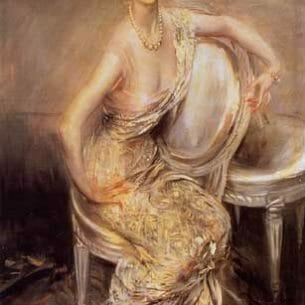 Boldini, Giovanni(Italy) – Portrait of Rita de Acosta Lydig Oil Painting Reproductions