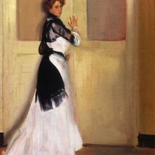 Alfred Henry Maurer – Girl in White Oil Painting Reproductions