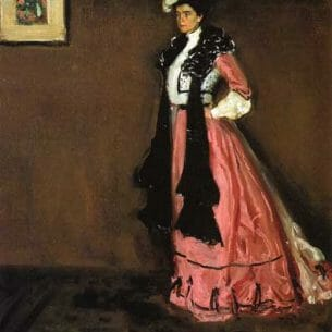 Alfred Henry Maurer – Woman in Pink, Portrait of Roselle Fitzpatrick