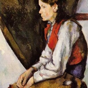 Cezanne, Paul – Boy in a Red Vest Oil Painting Reproductions