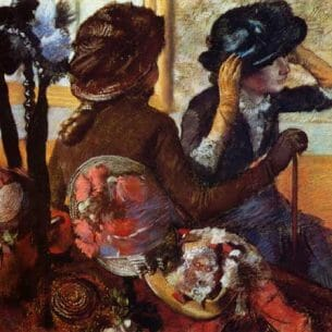 Degas, Edgar – At the Milliner's Oil Painting Reproductions