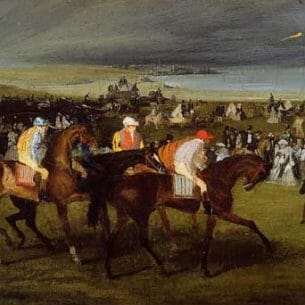 Degas, Edgar – At the Races, the Start Oil Painting Reproductions