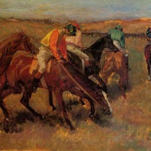 Degas, Edgar – Before the Race Oil Painting Reproductions