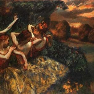 Degas, Edgar – Four Dancers Oil Painting Reproductions