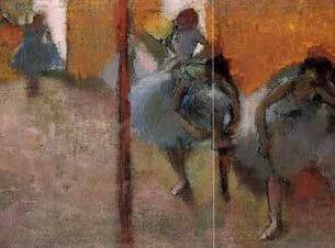 Degas, Edgar – Dancers in a Studio Oil Painting Reproductions