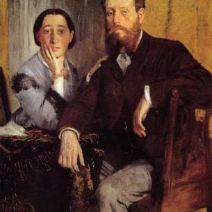 Degas, Edgar – Edmond and Therese Morbilli Oil Painting Reproductions