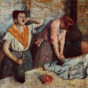 Degas, Edgar – Laundry Girls Ironing Oil Painting Reproductions