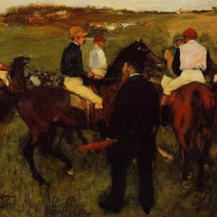 Degas, Edgar – Out of the Paddock Oil Painting Reproductions