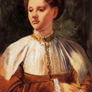 Degas, Edgar – Portrait of a Young Woman (after Bacchiacca)