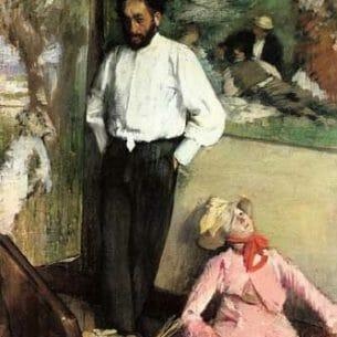 Degas, Edgar – Portrait of Henri Michel-Levy Oil Painting Reproductions