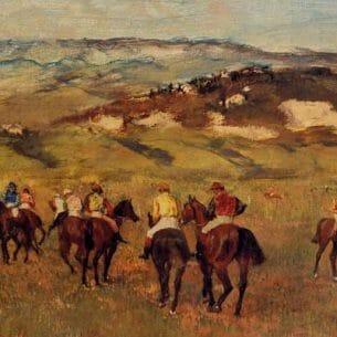 Degas, Edgar – Racehorses Oil Painting Reproductions