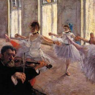 Degas, Edgar – Rehearsal Oil Painting Reproductions