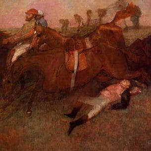 Degas, Edgar – Scene from the Steeplechase, the Fallen Jockey Oil Painting Reproductions