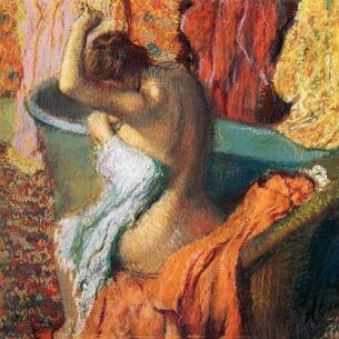 Degas, Edgar – Seated Bather Drying Herself Oil Painting Reproductions