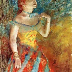 Degas, Edgar – Singer in Green Oil Painting Reproductions