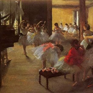 Degas, Edgar – The Dance Class Oil Painting Reproductions