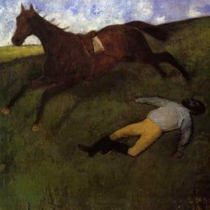 Degas, Edgar – The Fallen Jockey (also known as Fallen Jockey) Oil Painting Reproductions