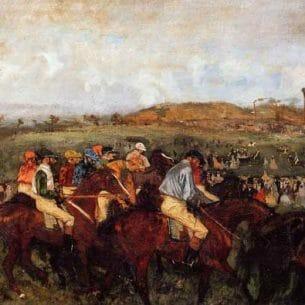 Degas, Edgar – The Gentlemen's Race, Before the Start Oil Painting Reproductions