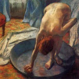 Degas, Edgar – The Tub Oil Painting Reproductions