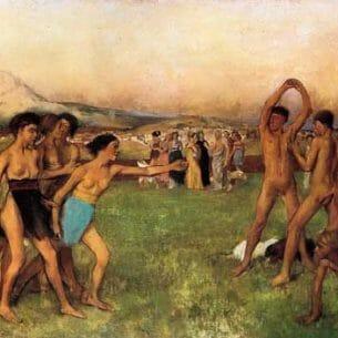Degas, Edgar – The Young Spartans