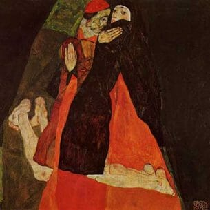 Egon Schiele – Cardinal and Nun Oil Painting Reproductions