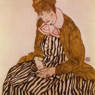 Egon Schiele – Edith Schiele, Seated Oil Painting Reproductions